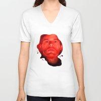 dexter V-neck T-shirts featuring Dexter by muffa