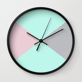 Dance of the triangles Wall Clock
