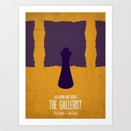 The Gallerist - Minimalist Board Games 06 Art Print
