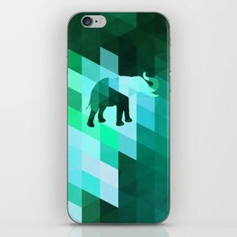Emerald Elephant iPhone Skin