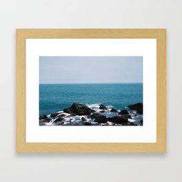 Black Rocks  Framed Art Print