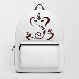 Simple Lord Ganesha Artwork Backpack
