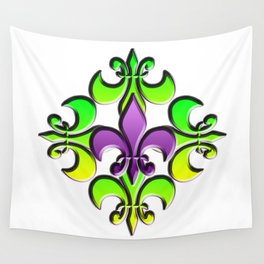 Five Nola Flowers Wall Tapestry