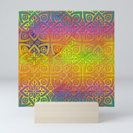 DP050-4 Colorful Moroccan pattern Mini Art Print