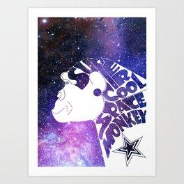 Super Cool Space Monkey Art Print