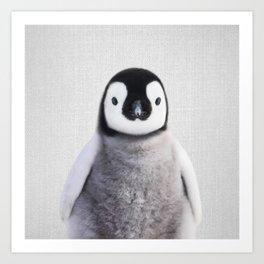 Baby Penguin - Colorful Art Print