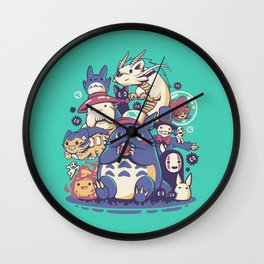 Creatures Spirits and friends Wall Clock