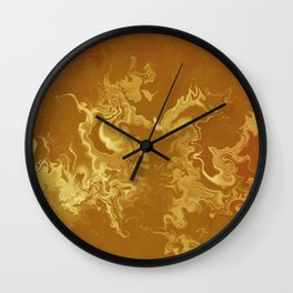 Dragon fire abstract Wall Clock