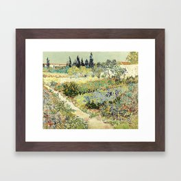 Vincent Van Gogh : Garden at Arles Framed Art Print
