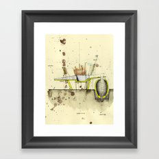 Process Sketch Framed Art Print