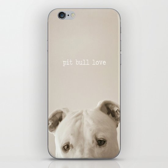 Pit bull love  iPhone & iPod Skin