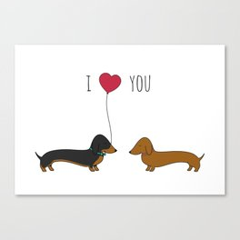 DACHSHUND LOVE Canvas Print