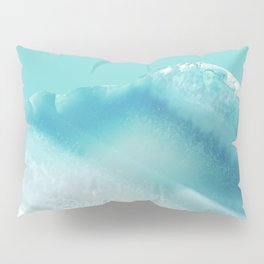 Geode Crystal Turquoise Blue Pillow Sham