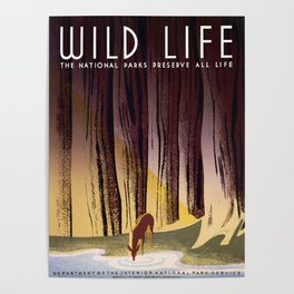 Wild Life - National Parks Preserve All Life Poster