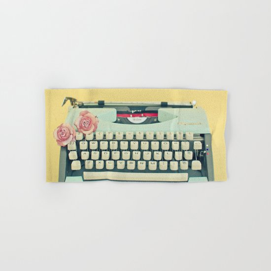 The Typewriter Hand & Bath Towel