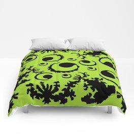Black and green geometry figures Comforters