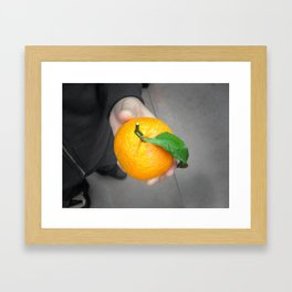 california orange Framed Art Print