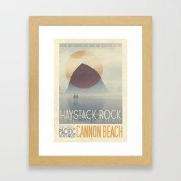 Haystack Rock of Cannon Beach, Oregon Framed Art Print