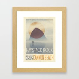 Haystack Rock of Cannon Beach, Oregon Framed Art Print