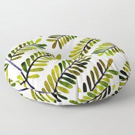 Green Leaflets Floor Pillow