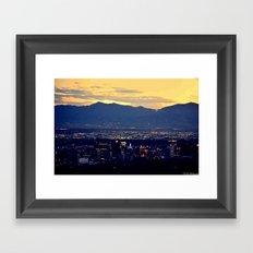 SaltLakeCity Framed Art Print