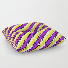 Purple gold white and black slur 2 Floor Pillow