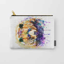 Colorful Grizzly Bear Carry-All Pouch