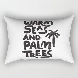 Warm Seas and Palm Trees Rectangular Pillow