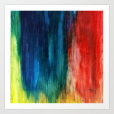 Spring Yeah! - Abstract paint 1 Art Print