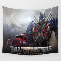 transformers Wall Tapestries featuring transformers  , transformers  games, transformers  blanket, transformers  duvet cover by ira gora