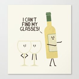 Lost Glasses Canvas Print