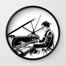 pianist plays the piano concert of classical music Wall Clock