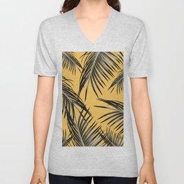 Black Palm Leaves Dream #6 #tropical #decor #art #society6 Unisex V-Neck