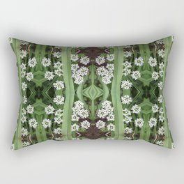 206 - Queen Anne's Lace abstract pattern Rectangular Pillow