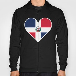 Dominican Flag Heart Hoody