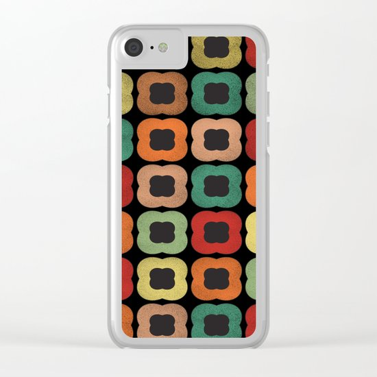 Lovely Pattern XVI Clear iPhone Case