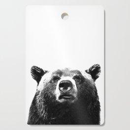 Black and white bear portrait Cutting Board