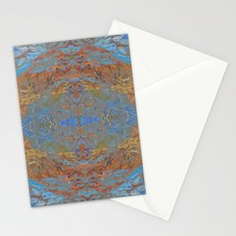Fall blue geometry Stationery Cards