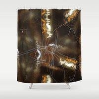 writing Shower Curtains featuring Night Writing by Sky iouan
