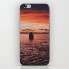 Sunset at Rompeollas iPhone Skin