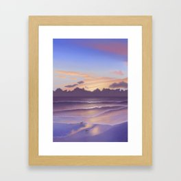 Violet Beach Framed Art Print