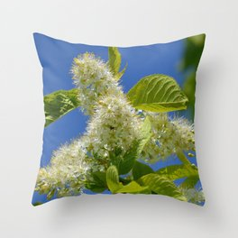 Mayday Tree in Bloom Throw Pillow
