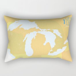 The GREAT LAKES of NORTH AMERICA Rectangular Pillow