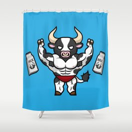 Frank the Fit Friesian Shower Curtain