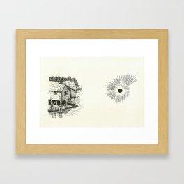 Stilted House/ Black Sun Framed Art Print