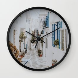 Mykonos IX / Greece Wall Clock