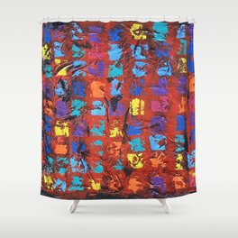 Abstract - The Truth in the Ashes Shower Curtain