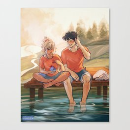 Valentines with Percabeth Canvas Print