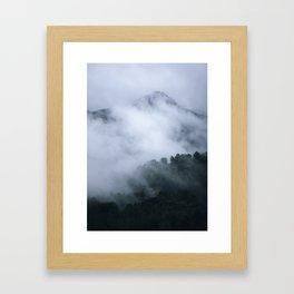 """""""Mistery mountains"""". Retro. Foggy. Framed Art Print"""
