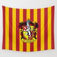 hogwarts Wall Tapestries featuring Gryffindor - Hogwarts  by Kesen